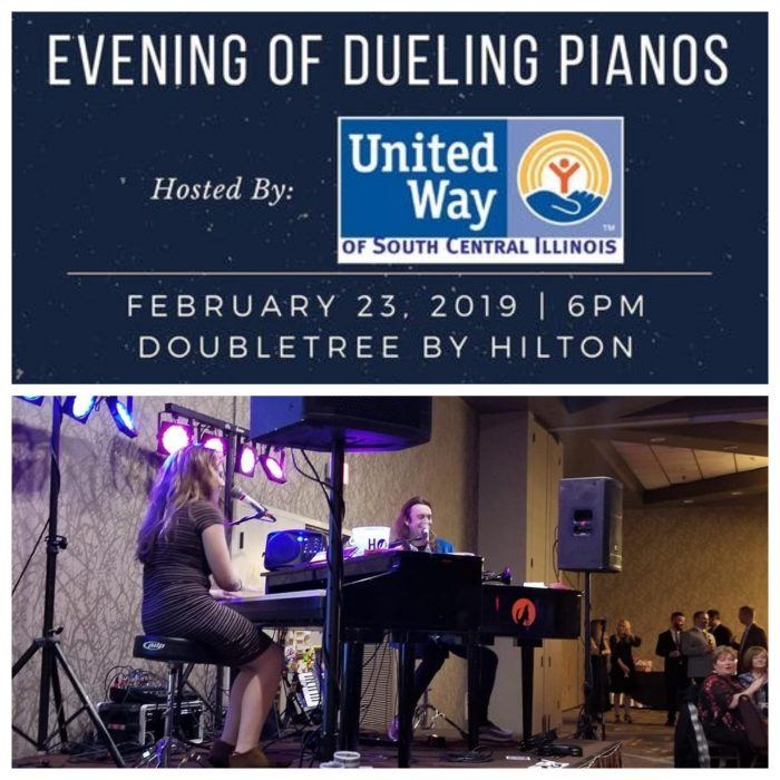 united way of southern illinois fund raising in mount vernon with howl2go dueling pianos