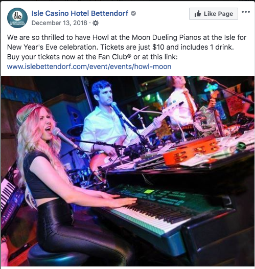 iowa dueling pianos book now for events