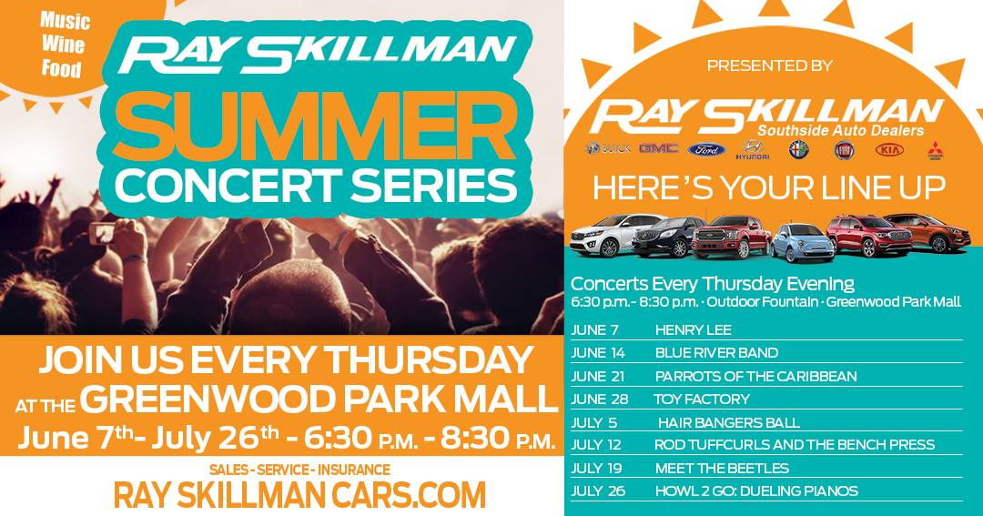 greenwood park mall live music